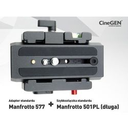 Adapter standard Manfrotto 577z płytką 501PL (długa)