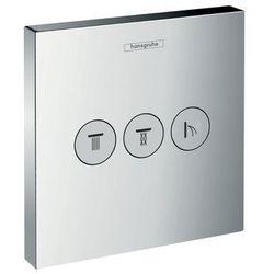 Hansgrohe zawór odcinający ShowerSelect, montaż podtynkowy, dla 3 odbiorników, element zewnętrzny 15764000