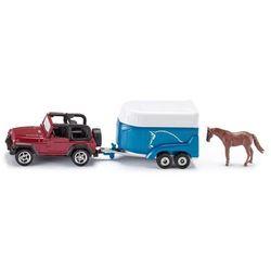 SIKU Jeep z przyczepą dla koni