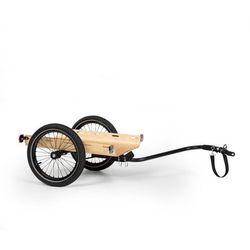 KLARFIT Companion Travel, przyczepka transportowa, 40 kg, przyczepka rowerowa, czarna/drewniana