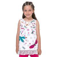 Podkoszulki dziecięce, Desigual podkoszulek dziewczęcy Arizona 140 biały - BEZPŁATNY ODBIÓR: WROCŁAW!