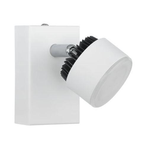 Lampy ścienne, Lampa oprawa ścienna kinkiet Eglo Armento 1x6W LED biała/czarna 93852