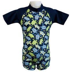 Strój kąpielowy kombinezon dzieci 120cm filtr UV50+ - Turtle Print \ 120cm
