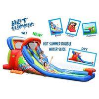 Zabawki dmuchane, Dmuchana podwójna Zjeżdżalnia Wodna HOT SUMMER