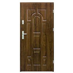 Drzwi zewnętrzne stalowe Splendoor Granit 90 prawe orzech
