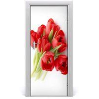 Naklejki na ściany, Naklejka samoprzylepna okleina Czerwone tulipany