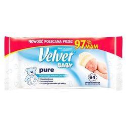 Velvet Chusteczki nawilżane dla niemowląt Baby Pure 64szt