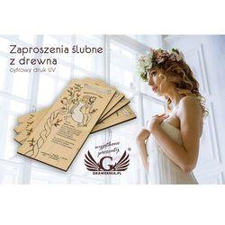 Zaproszenia ślubne z drewna - cyfrowy druk UV - ZAP001