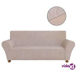 vidaXL Elastyczny pokrowiec na sofę, z dżerseju, beżowy Darmowa wysyłka i zwroty