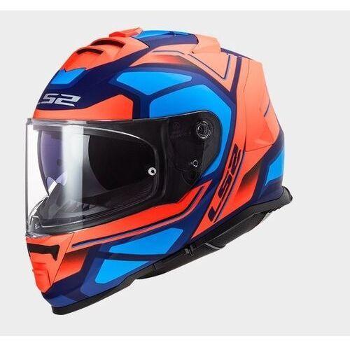 Kaski motocyklowe, KASK LS2 FF800 STORM FASTER MATT ORANGE BLUE