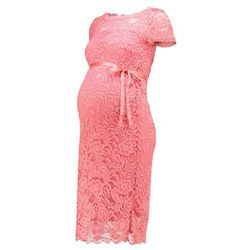 MAMALICIOUS MLMIVANA BOATNECK DRESS Sukienka koktajlowa strawberry ice