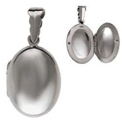 Elegancki otwierany srebrny owalny wisior sekretnik puzderko srebro 925 W0334