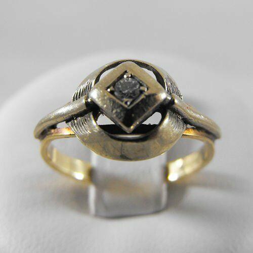 Pierścionki i obrączki, Złoty pierścionek z brylantem P1236