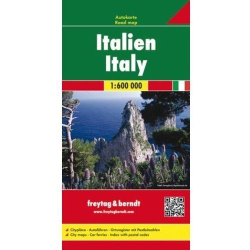 Mapy i atlasy turystyczne, Włochy 1:600 000. Mapa smochodowa, składana. Freytag&Berndt (opr. twarda)