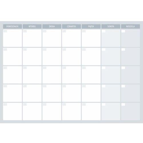 Tablice szkolne, Tablica magnetyczna suchościeralna planer tygodniowy 513