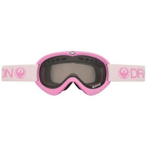 Kaski i gogle, gogle snowboardowe DRAGON - Dxs Pink (Smoke + Yellow) (807) rozmiar: OS