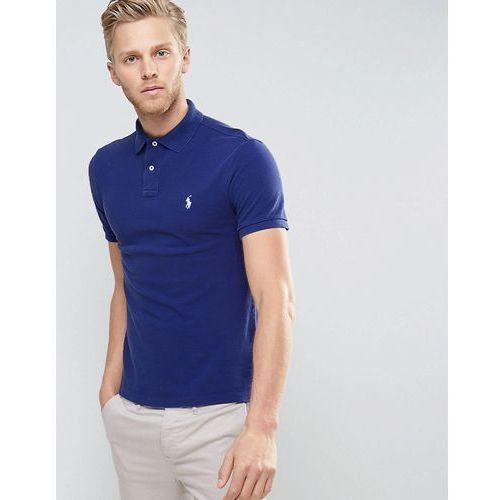 Męskie koszulki polo, Polo Ralph Lauren Pique Polo Slim Fit in Navy - Navy