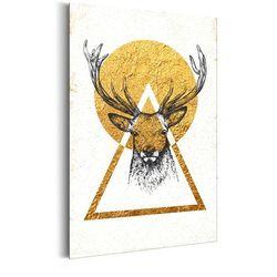 Plakat metalowy - Mój dom: Złoty jeleń [Allplate]