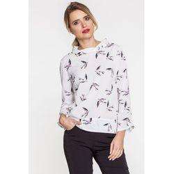 Zwiewna bluzka w jaskółki - Duet Woman
