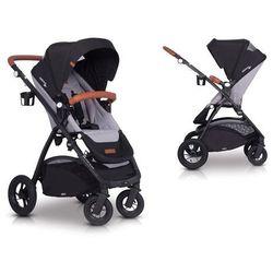 Easygo optimo air grey fox wózek do 22 kg z obracanym siedziskiem na pompowanych kołach + torba dla mamy gratis!