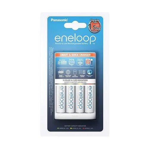 Ładowarki do akumulatorków, Ładowarka Eneloop BQ-CC55E Szybka + 4xAA Eneloop 1900mAh (AA/AAA)
