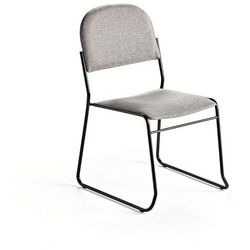Krzesło konferencyjne DAWSON, tkanina, jasny szary