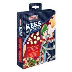 KAISER XMAS Foremki, wykrawacze do ciastek BOŻE NARODZENIE 8 sztuk zestaw nr 3