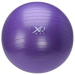Piłka gimnastyczna do ćwiczeń, 65 cm, z pompką nożną - fioletowa