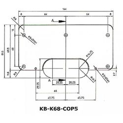 Podkładka wzmacniająca do zawiasów Kubica Koblenz K6700 symetryczna