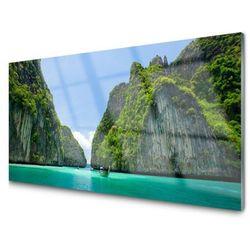 Panel Szklany Góry Woda Zatoka Krajobraz
