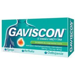 Gaviscon o smaku mięty TAB x 24 tabletki do rozgryzania i żucia