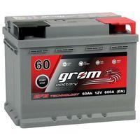 Akumulatory samochodowe, Akumulator GROM EFB START&STOP 60Ah 600A Prawy Plus DTR