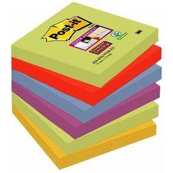 Karteczki POST-IT Super sticky (654-6SS-MAR), 76x76mm, 6x90 kart., paleta marrakesz