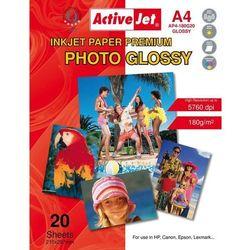Activejet Papier foto A4 (AP4-180G20) 20 ark Darmowy odbiór w 20 miastach!