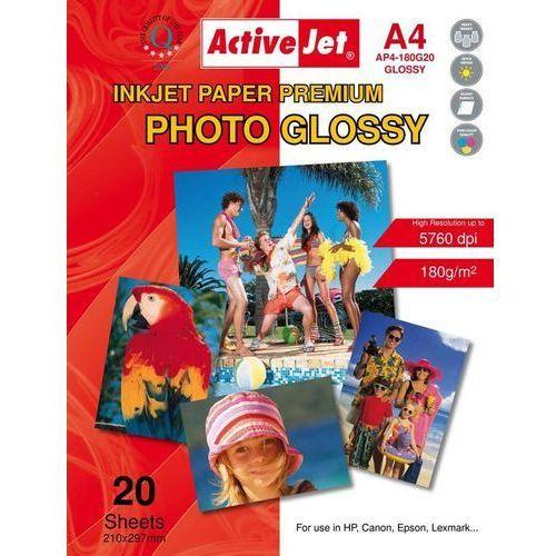 Papiery fotograficzne, Activejet Papier foto A4 (AP4-180G20) 20 ark Darmowy odbiór w 20 miastach!
