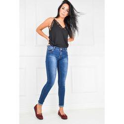 Spodnie jeansowe wyszczuplające ciemne rurki