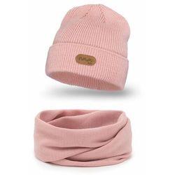 Jesienny komplet czapka i komin dla dziewczynki