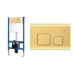 Rea stelaż podtynkowy do WC z przyciskiem spłukującym F złoty REA-E9851