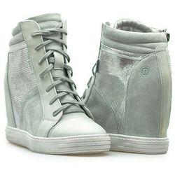 Sneakersy Nessi 93106 Szare/Srebrne zamsz