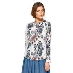 Bluzka z asymetrycznymi draperiami - wzór - B87