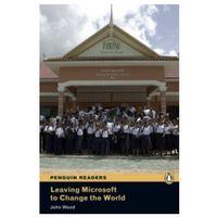 Książki do nauki języka, Leaving Microsoft To Change The World + CD. Penguin Readers Contemporary (opr. twarda)