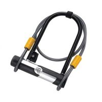 Zabezpieczenia do roweru, Zapięcie U-LOCK 12mm 106mm x 200mm linka 10mm x 120cm 5815