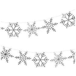 Girlanda srebrne Płatki Śniegu - 300 cm - 1 szt.