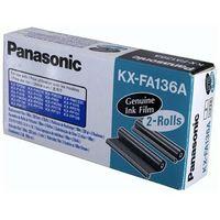 Akcesoria do faksów, Wyprzedaż Oryginał Folia Panasonic do faksów KX-F1110/1015 KX-FP121/131PD | 2 x 336 str. | czarny black, 1 sztuka z dwupaka, pudełko otwarte