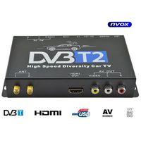Pozostałe car audio-video, Tuner samochodowy telewizji cyfrowej DVB-T/T2 MPEG 2/4 SLIM HDMI USB AV 12V 24V