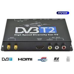 Tuner samochodowy telewizji cyfrowej DVB-T/T2 MPEG 2/4 SLIM HDMI USB AV 12V 24V