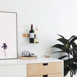 Umbra - stojak na wino/kieliszki showvino, biały