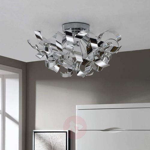 Lampy sufitowe, Piękna chromowa lampa sufitowa Elviro