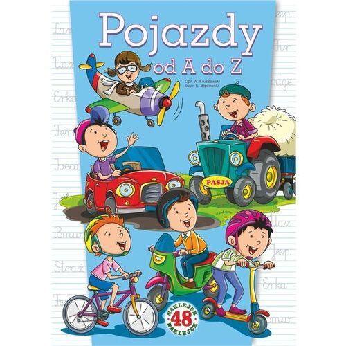 Książki dla dzieci, Pojazdy od A do Z. 48 naklejek