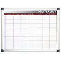 Tablice szkolne, Planer, Tablica suchościeralno-magnetyczna do planowania tygodniowego, 600x450 mm
